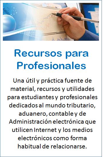 Pulse en la imagen para ir a la página de Recursos para Profesionales